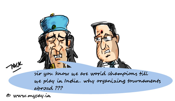 ms dhoni cartoon image,n srinivasan cartoon picture,team India,cricket cartoons,mysay.in