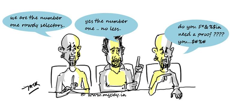 raghu cartoon,mtv roadies funny image,mysay.in,