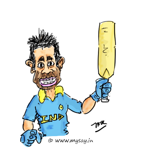 virat kohli cartoon image,cricket cartoons,cricketers cartoons,mysay.in