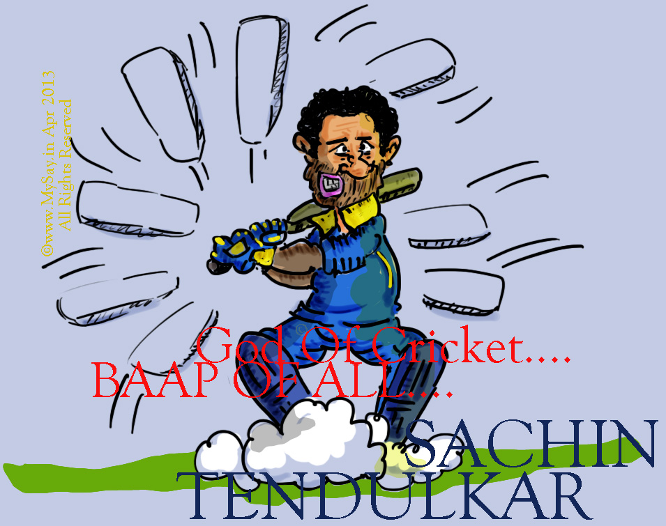 sachin cartoon, tendulkar cartoon image,
