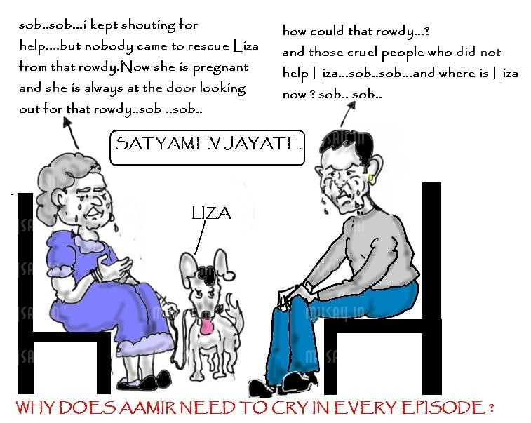 aamir khan cartoon image,styameva jayate , bollywood funny, mysay.in