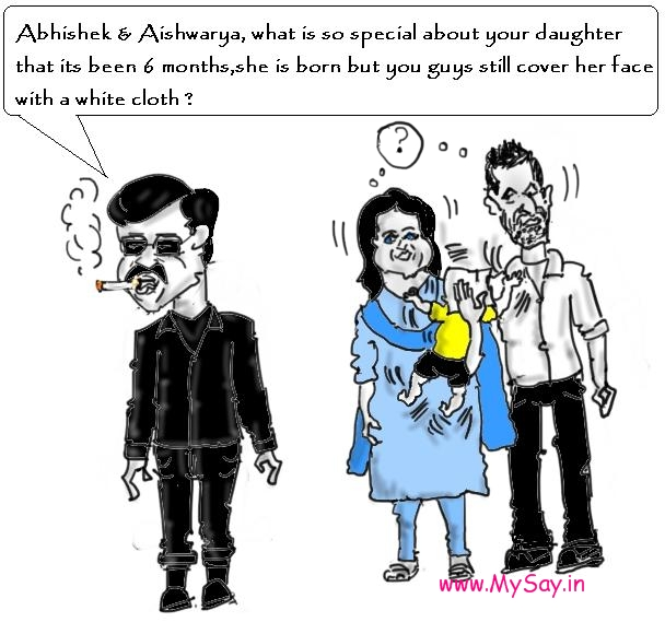 rajinikanth jokes , rajinikanth cartoon image,aishwarya cartoon,abhishek bachchan cartoon image,
