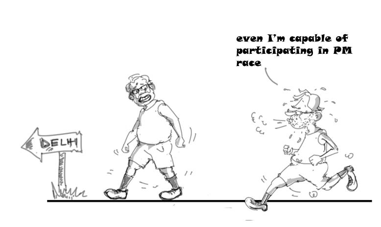 nitish kumar vs modi cartoon,