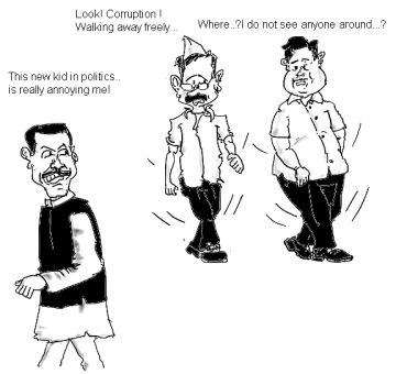 Kejriwal accuses Robert Vadra of being corrupt while Nitin Gadkari says he has no such evidence.