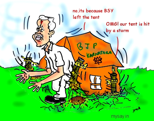 Yeddyurappa cartoon image