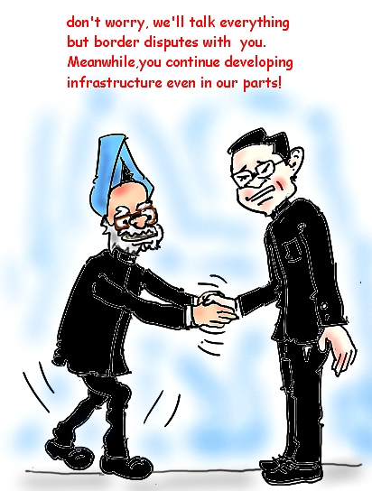 Manmohan Singh Image,Indo-China border dispute