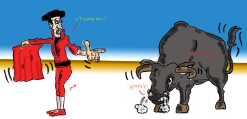 bull,matador,problems,bull fight,