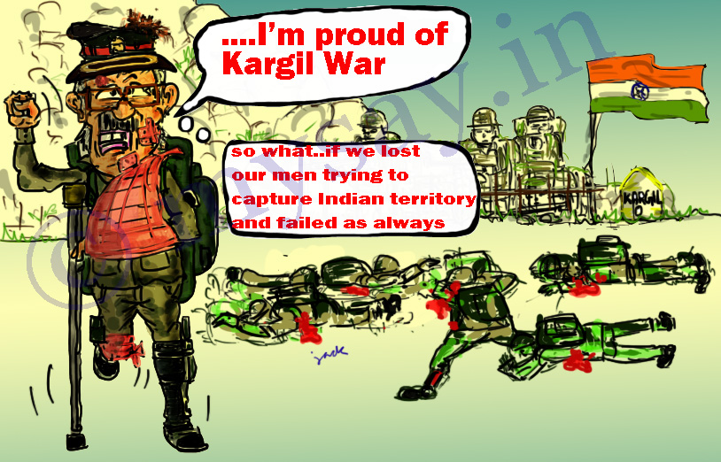 kargil operation,pervez musharraf cartoon image,