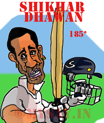 Shikhar Dhawan Cartoon