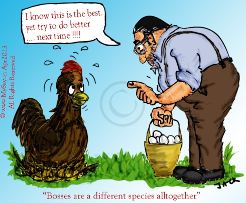 bosses are a species cartoon,boss cartoon,hen cartoon,office cartoon,
