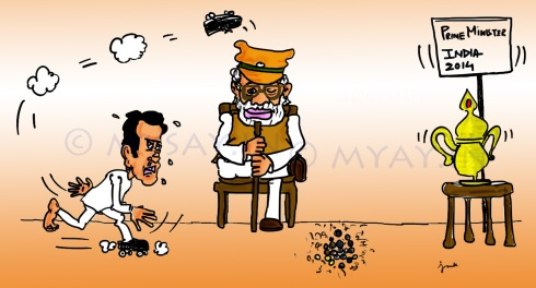 modi cartoon image,rahul gandhi cartoon image,