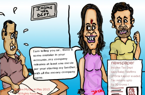 balaji telefilms,ekta kapoor,tushar kapoor,mysay.in,cartoons,bollywood,