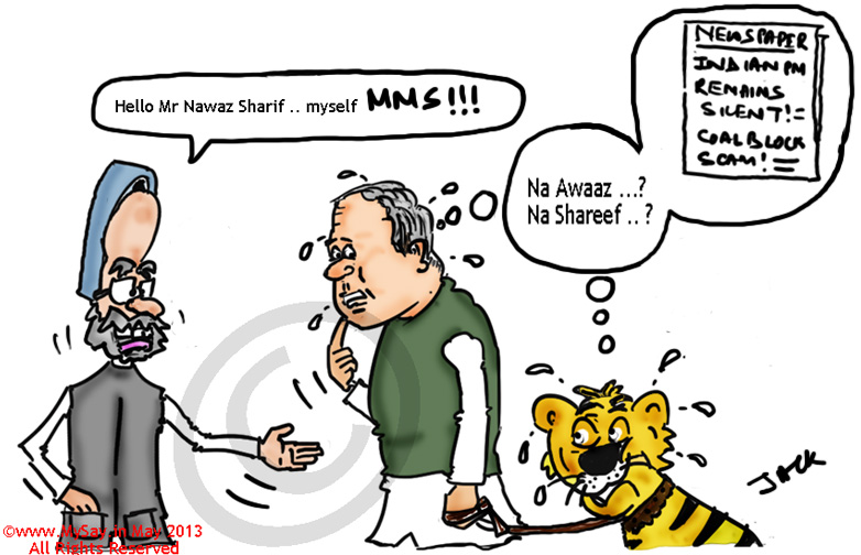 nawaz sharif cartoon,manmohan singh cartoon,