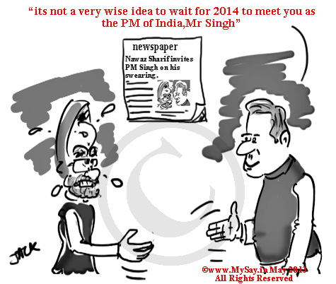 manmohan singh,nawaz sharif,mysay.in,cartoons,