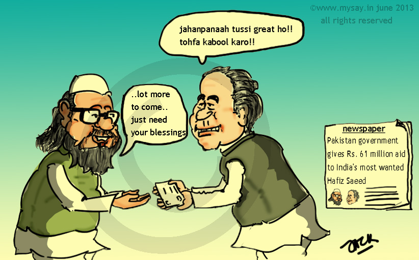 pakistan,nawaz sharif,hafiz saeed,cartoon,mysay.in