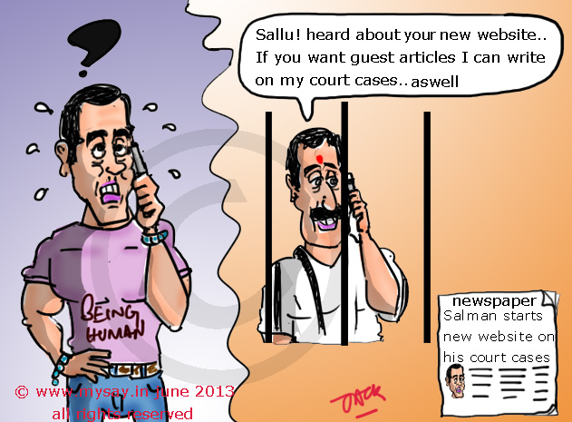 salman khan cartoon,sanjay dutt cartoon,bollywood cartoon,mysay.in