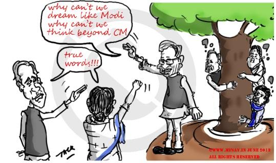 third front,nitish kumar,mamata,biju patnaik,mulayam singh,mayawati,jayalalitha,political cartoon,mysay.in
