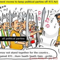 Government moves to keep political parties off RTI Act