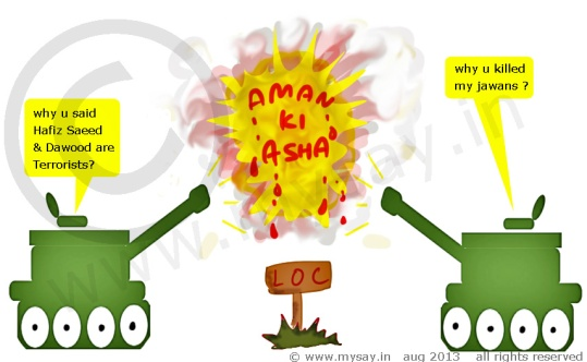 army tank cartoon,aman ki asha cartoon,india pakistan loc  firing cartoon,jokes on saeed hafiz ,jokes on dawood,jokes on pakistan,mysay.in political cartoon,