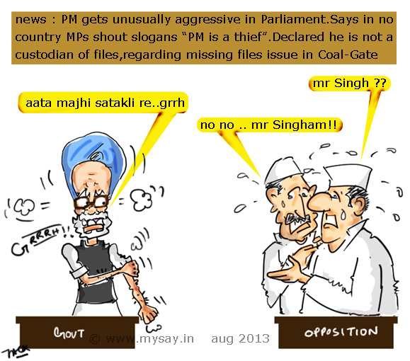 funny images,funny pictures,mysay.in,manmohan singh cartoon,funny political cartoons,parliament cartoon,