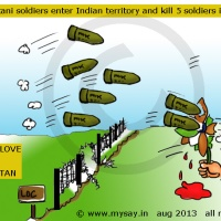Pak soldiers enter Poonch and kill 5 Indian soldiers