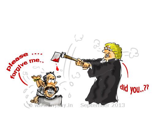 delhi gangrape death sentence for culprits,mysay.in,nirbhaya,gangrape picture image,social message cartoon,