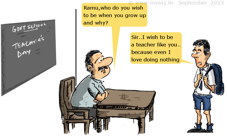 govt school teacher jokes cartoons doodles quotes