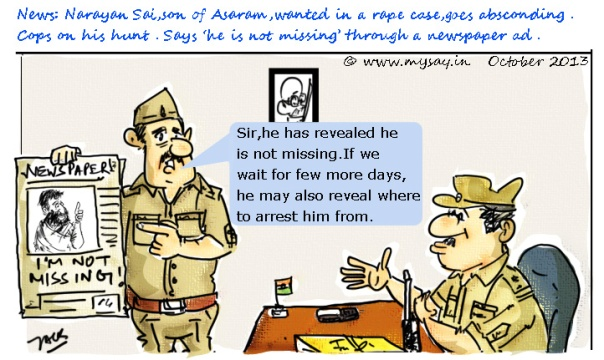rape , spiritual guru cartoon image,asaram controversy,mysay.in ,social message,asaram picture,