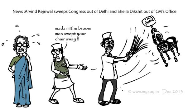 sheila dikshit cartoon,delhi assembly polls,arvind kejriwal cartoon,mysay.in,political cartoons,