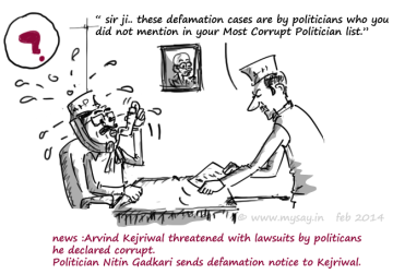 arvind kejriwal funny,kejriwal jokes,Indias most corrupt,mysay.in,political cartoons,