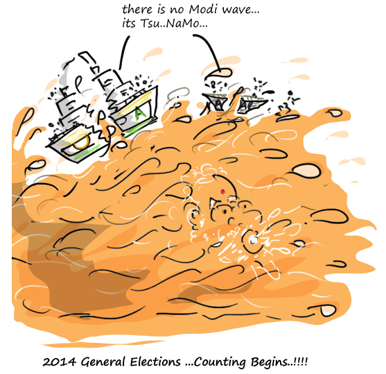 2014 general election results,mysay.in,bjp wins 2014,nda wins cartoon,congress lost 2014 general elections,