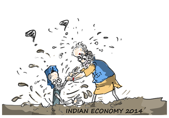congress jokes,modi jokes,indian economy,mysay.in,political cartoons,