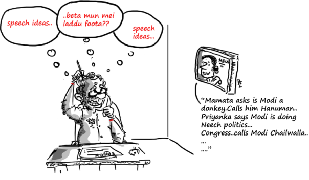 2014 general election cartoons,mysay.in,modi jokes,modi cartoon,political cartoons,