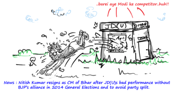 nitish kumar cartoon,jdu cartoon,political cartoons,mysay.in,
