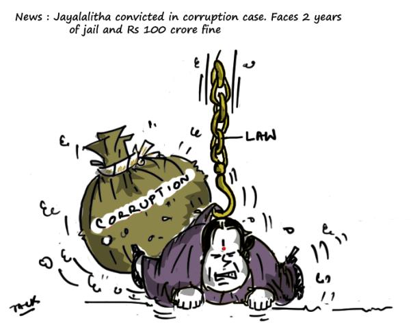 jayalalithaa convicted in corruption case,
