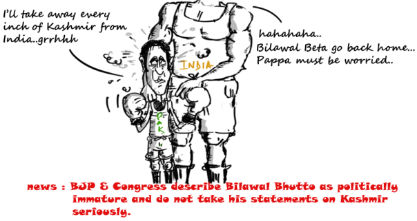 bilawal bhutto zardari cartoon,kashmir,political cartoons,