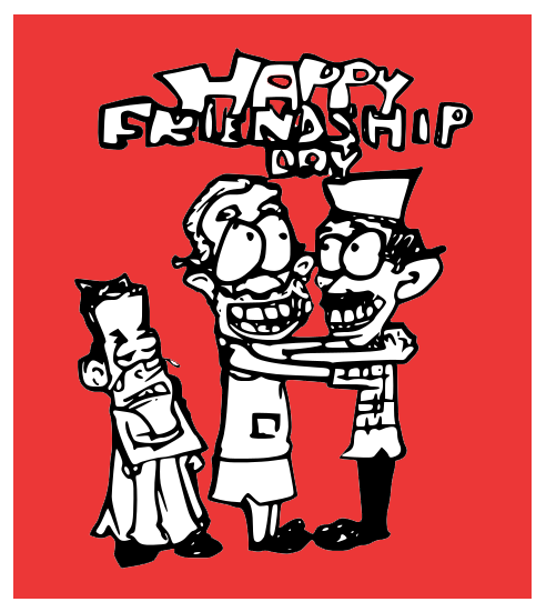 happy friendship day cartoon,modi cartoon,kejriwal cartoon, rahul gandhi cartoon