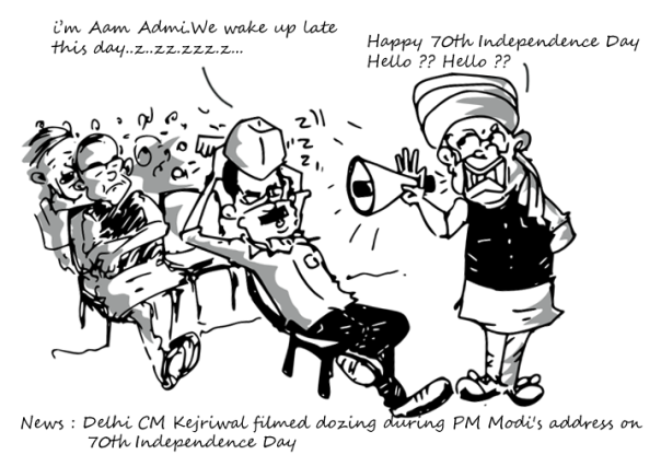 70th Indian Independence Day , Modi cartoon,Kejriwal cartoon, jaitley cartoon,