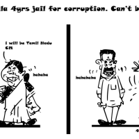 Cartoon on Sasikala 4 Years Jail for Corruption   Can't be CM