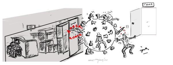 cartoon about corona virus,mysaycartoons,mysay.in
